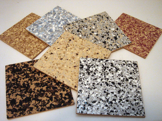 Epoxy Color Flake Samples
