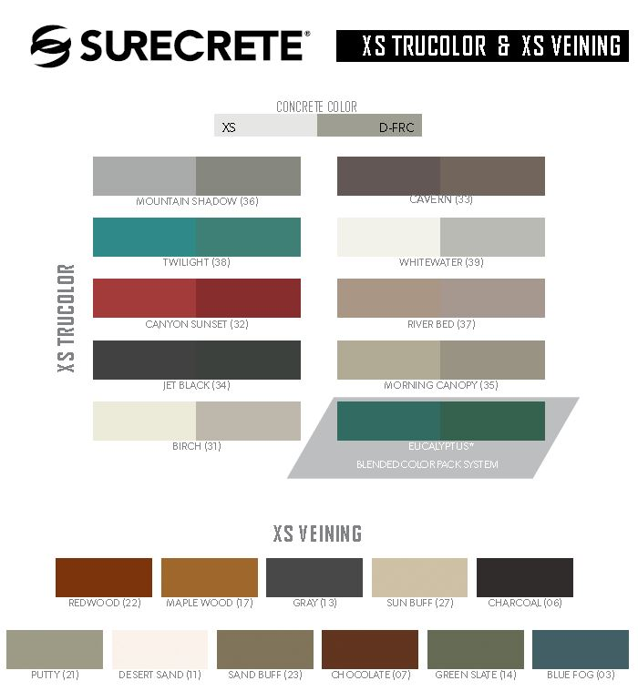 surecrete color chart