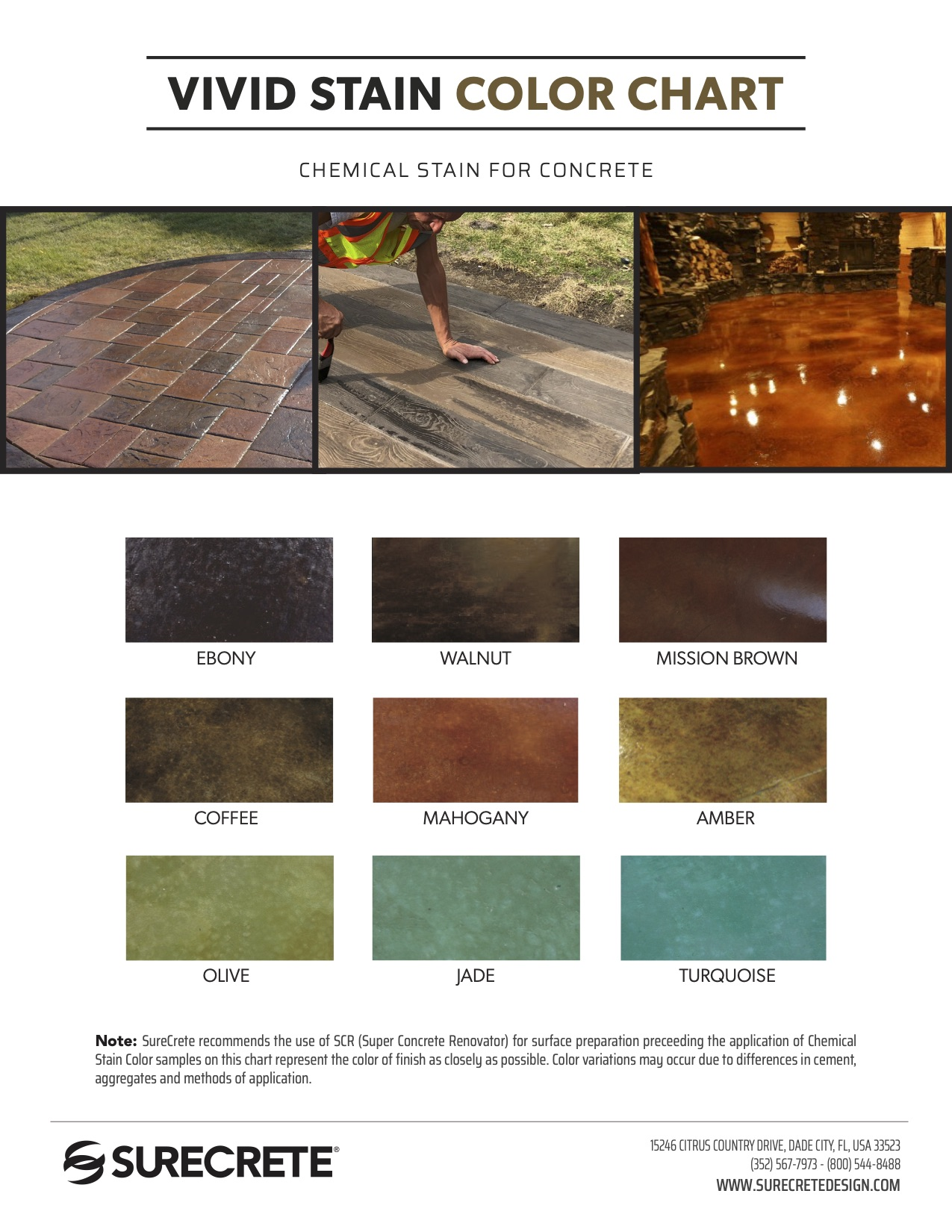 Vivid Stain Color Chart